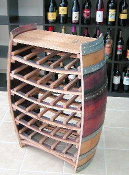 Whole Barrel Wine Rack with Counter Top, Holds up to 36 Bottles, 36″H X 26″W X 10″D Review