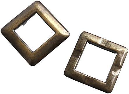 NBK ツメ式ハトメ 正方形 大 アンティークゴールド 内寸2.5×2.5cm 2組入 F5-435