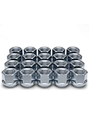 White Knight 1309-1S-20AM 14mm x 1.50 Thread Size Open End Bulge Acorn Lug Nut, Zinc, 20-Pack
