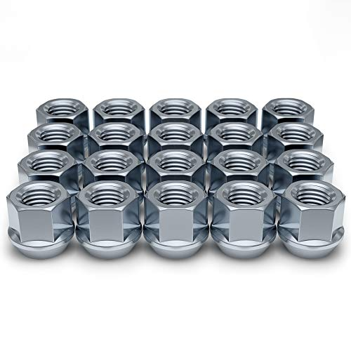 "White Knight Wheel Accessories 1304-1S Zinc 1/2""-20 Open End Bulge Acorn Lug Nut Pack"