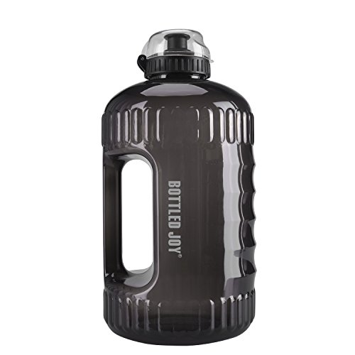 BOTTLED JOY Water Bottle, 2.2L Large Water Jug with Handle BPA Free Plastic Sports Water Bottle Wide Mouth and Leakproof Gallon Water Bottle for Outdoor Gym Travel Office Home