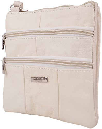 Shoulder Winter Womens Features Body White Leather with Cross Ladies Small Multiple Bag Rqgwq1