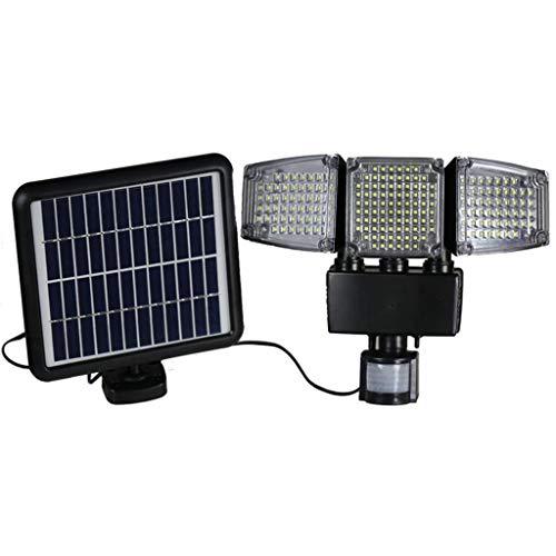 HJuyYuah Solar Power PIR Motion Sensor Wall Light Outdoor Garden Waterproof Lamp188LEDCOB