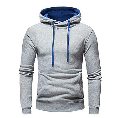 HDGTSA Men's Hoodie Solid Hooded Sweatshirt Long Sleeve Casual Outwear Tops Blouse at  Men's Clothing store
