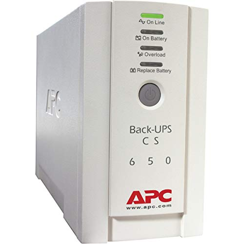 APC BK650EI Back-UPS CS 650VA 230V for International Use - 650VA/400W - 11.4 Minute Full Load - 3 x IEC 320-C13 - Battery/Surge-Protected, 2 x - Battery/Surge-Protected, 1 x IEC 320-C13 - Surge-p ()