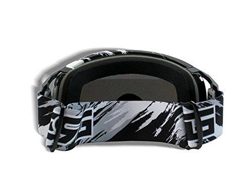 CRG Motocross ATV Dirt Bike Off Road Racing Goggles Adult T815-157 Series (Black) by CRG Sports (Image #3)