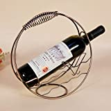 Autumn Water 1Pcs Mediterranean Style Fashion Metal Handwork Wine Shelf