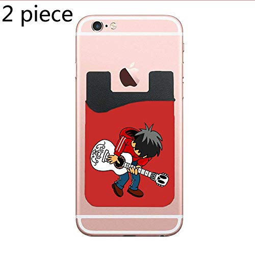 Cellcardphone Two Vs The Land of The Dead (Variant) Cell Phone Stick On Wallet Card Holder Phone Pocket for All Smartphones (Black)