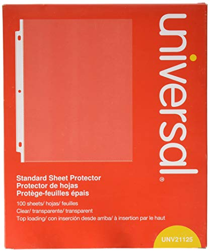 Universal Top-Load Poly Sheet Protectors, Standard, Letter, Clear, 100/box ()