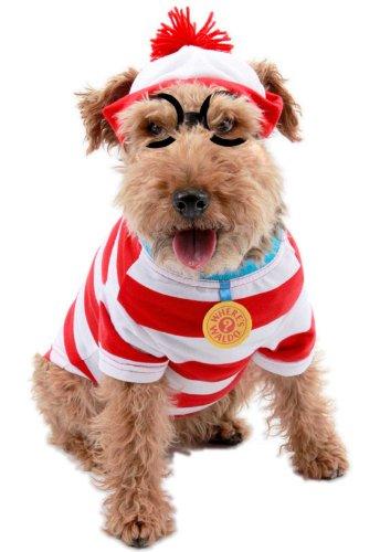 Where's Waldo Woof Costume (Woof Costume Pet Pet Costume - Medium)