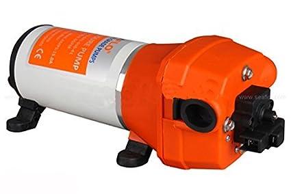 ZJchao DC 12V 100PSI 4L/Min Diaphragm Water Self Priming Pump High Pressure for Caravan, Camper, Boats, Marine, Home Garden and Camping