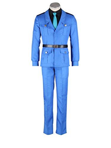 Mtxc Men's Hetalia: Axis Powers Cosplay Costume Italy 3rd Size XXX-Large Blue (Hetalia Halloween Italy)