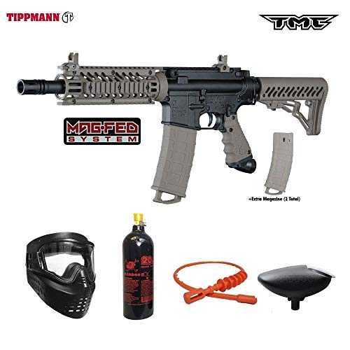 Tippmann TMC MAGFED Bronze Paintball Gun Package - Black/Tan