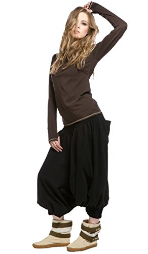 IndiaStyle Warm Pants with Elastic Waist Relaxed Fit Unique Loose Comfy Trousers