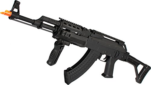 Evike CYMA Full Metal Contractor AK47 Airsoft AEG Rifle with Folding Stock -