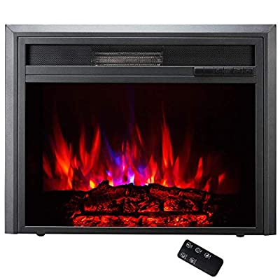 MMJ Touch Screen Remote Control Electric Fireplace -30'' Embedded Electric Fireplace Insert, Built-in Electric Stove Heater With Timing Function