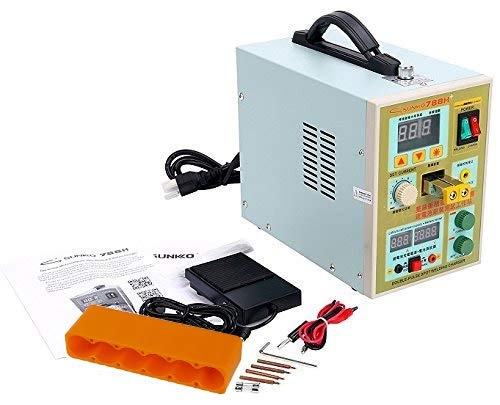 Sunkko 788H LED Dual Pulse Spot Welder 18650 Battery Charger 800 A 0.1 - 0.2 mm 36V 60A