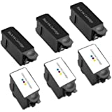 6 (3 Sets) Compatible Advent Black & Tri-Colour ABK10 & ACLR10 Ink Cartridges For A10 AW10 AWP10