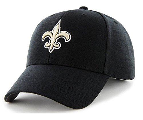 思春期労働したがってNew Orleans Saints nfl 47ブランドBasicブラックMVP大人用メンズ調節可能な帽子キャップ