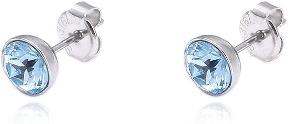 Tribal Spirit steel Ohrstecker Swarovski Kristalle Elements aus Edelstahl 6mm viele Farben schmuckrausch