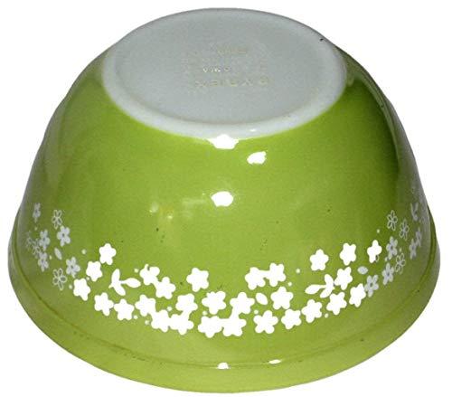 Vintage Corning Pyrex Light Green Spring Blossom 1 1/2 Quart Mixing Nesting Batter Bowl USA