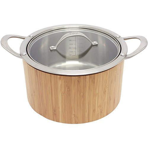 CAT CORA by Starfrit Stainless Steel Cook N Serve Casserole, 3.8-Quart by CAT CORA