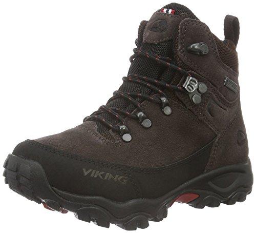 Viking Rondane Jr. - Zapatillas de senderismo Unisex Niños Marrón - Braun (Dark Brown/Black 1802)