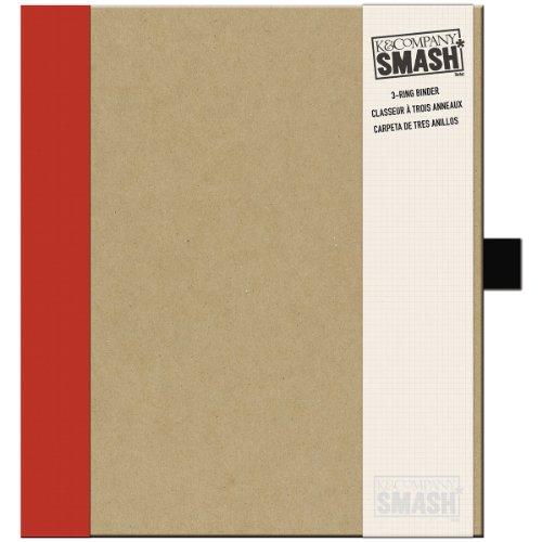 K&Company Smash Binder Kraft with Red, 11.5 x 10-Inch