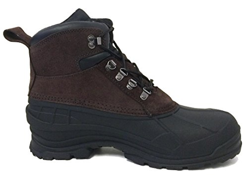 Cold Shoes Boots Snow Winter Mens Insulated Brown Thermolite 6 Leather Waterproof Weather Hiking Ski Ankle f1PxqOw
