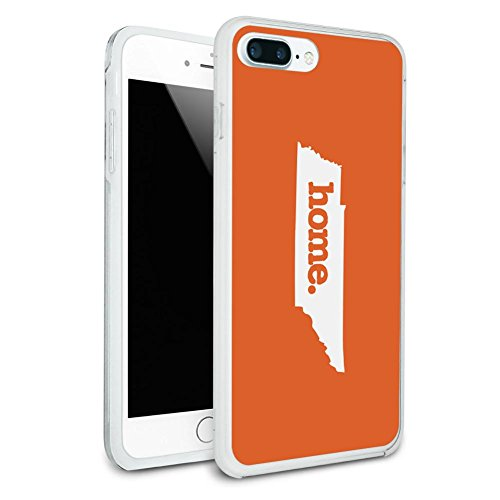 Tennessee TN Home State Solid Orange Protective Slim Hybrid Rubber Bumper Case for Apple iPhone 7 or iPhone 7+ Plus - iPhone 7 Plus (fits larger Plus model only)