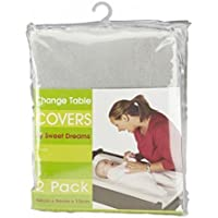 Sweet Dreams Change Table Mattress Cover 2 Pack, Grey