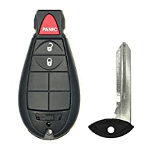 Keyless2Go Uncut Keyless Remote 3 Button Fobik Key Fob Replacement for Vehicles That Use M3N5WY783X