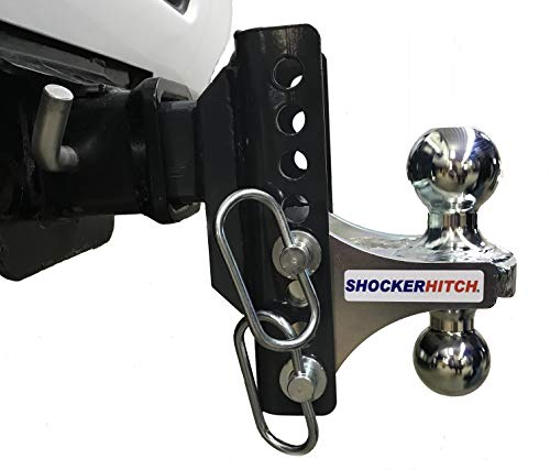 Shocker XR Receiver Hitch Ball Mount with Adjustable Multi-Ball Ball Mount - Fits All 2 inch Receiver Hitches - 2 & 2 5/16 inch Balls - 10,000 lbs