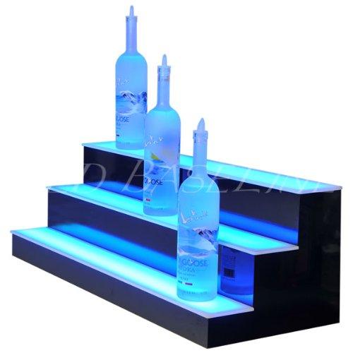 Home & Bar Lighted Bar Shelf 3 Step 34'' by LED Baseline (Image #3)