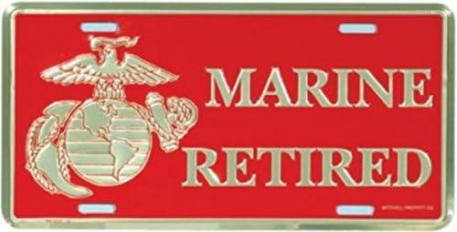 Marine Retired License Plate Mitchell Proffitt U.S