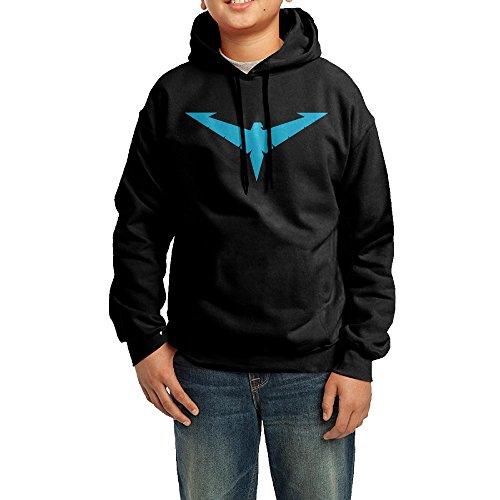 [OVIKA Teenager's Nightwing Logo Hooded Sweatshirt Size M] (Tim Drake Costume)
