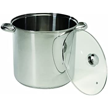 ExcelSteel 551 Stainless Steel Stockpot with Encapsulated Base, 20-Quart