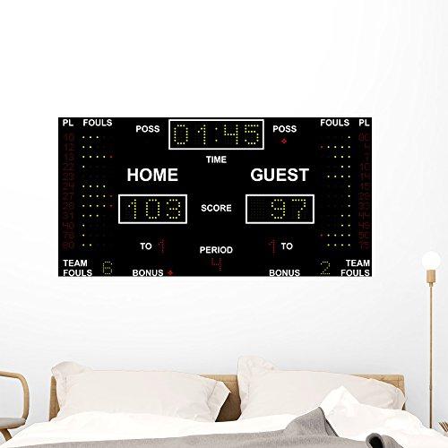 Wallmonkeys Scoreboard Wall Mural Peel and Stick Graphic (48 in W x 26 in H) ()