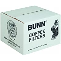 BUNN BUNBCF250CT Paper Filter Chlorine Free, White (Pack of 250)