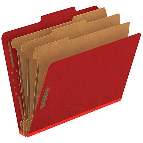 - Pendaflex Pressboard Classification File Folders, 3 Dividers, 2