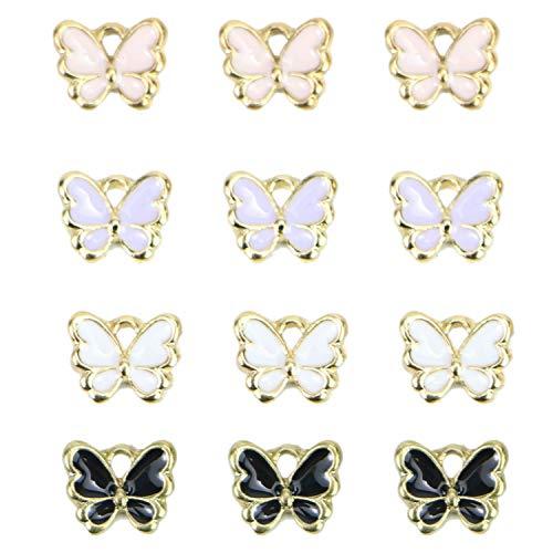 Enamel Butterfly Charm - Monrocco 40 Pcs Enamel Butterfly Charms Bracelet Pendant Charms for Jewelry Making
