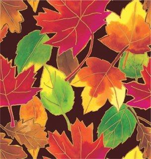 - Autumn Leaves with Metallic Details Gift Wrap Flat Sheet 24