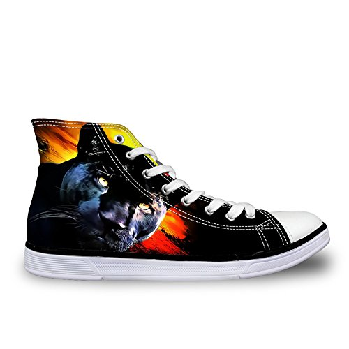 Hugs Idea 3D Animals Printed Casual High Top Canvas Shoes Fashion Men Lace Up Comfort Sneakers Us6 5