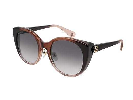 Gucci Gafas de sol para mujer GG0369S rojo/viola: Amazon.es ...