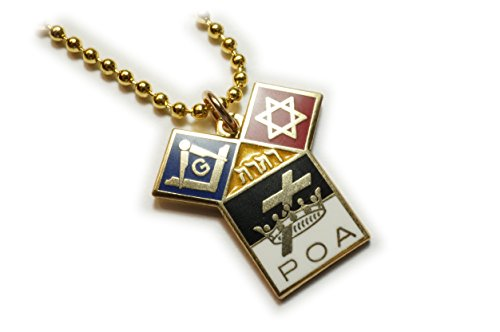 Templar Knights Euclid POA Jewish Freemason Masonic Charm Pendant Necklace w/ Ball Chain