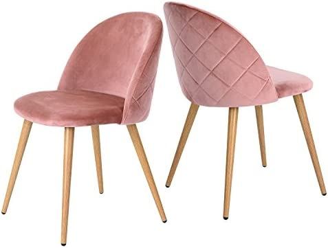 Amazoncom Greenforest Velvet Dining Chairs For Living Room Modern