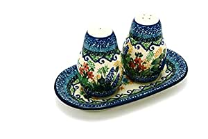 Polish Pottery Salt & Pepper Set - Unikat Signature U4695