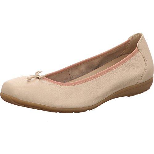 Caprice 22106-406 - Bailarinas de Piel Lisa para mujer Beige