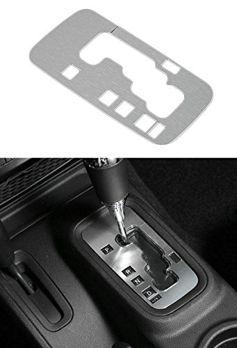 Danti Aluminum Interior Accessories Trim Gear Frame Cover for Jeep Wrangler 2012-2016 1pcs (Silver)