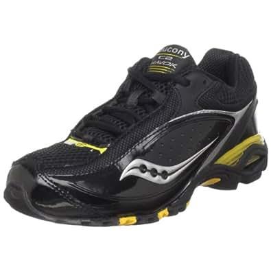 Saucony C2 Havok Running Shoe (Little Kid/Big Kid),Black/Silver/Yellow,7 M US Big Kid